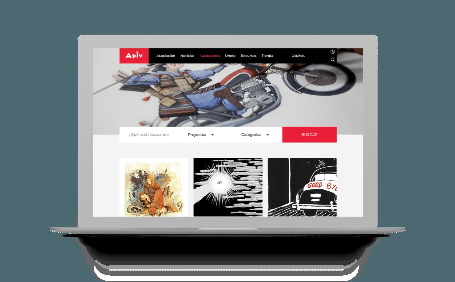 Nueva web y Ecommerce para APIV