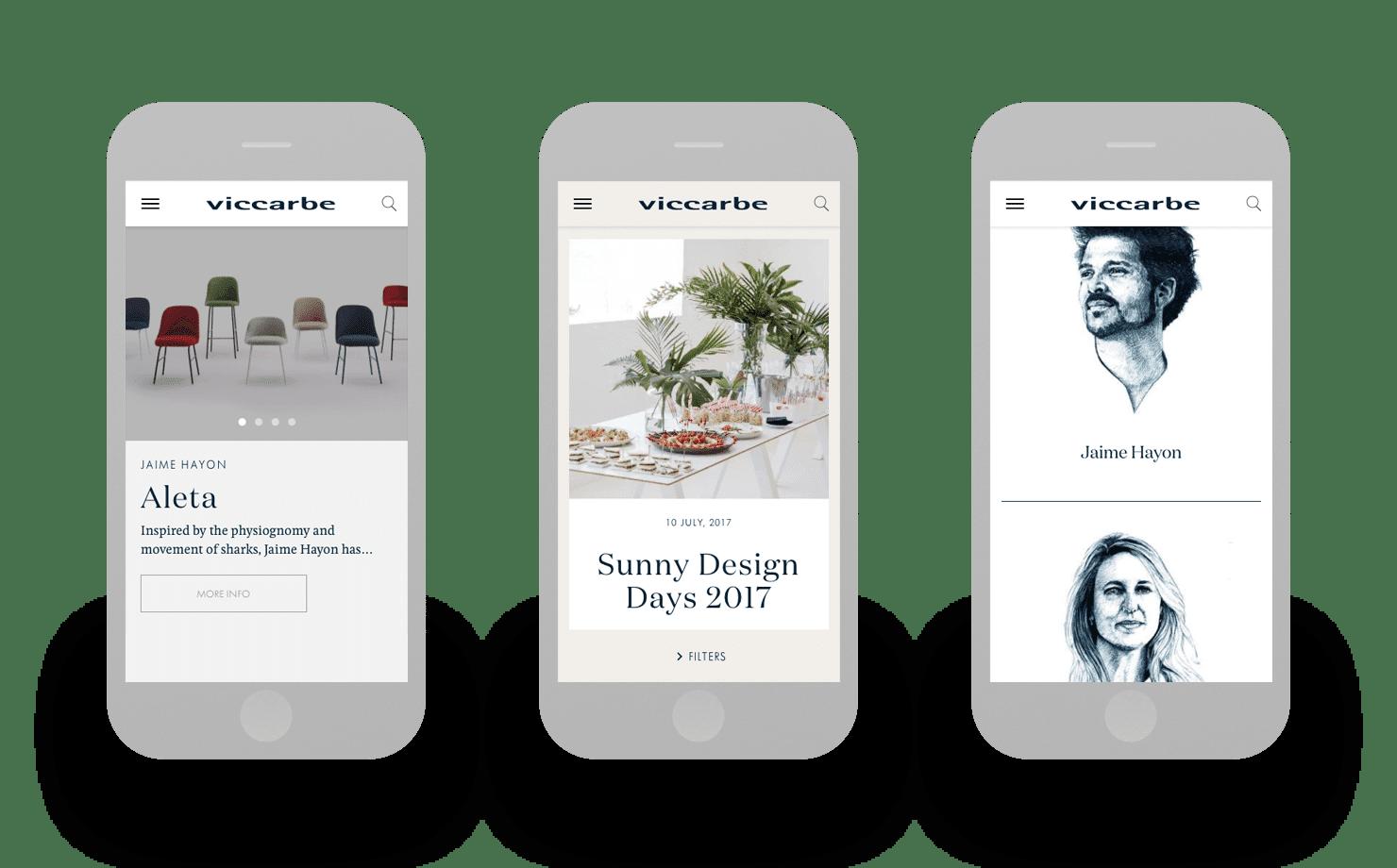 Minimalismo y elegancia digital para Viccarbe