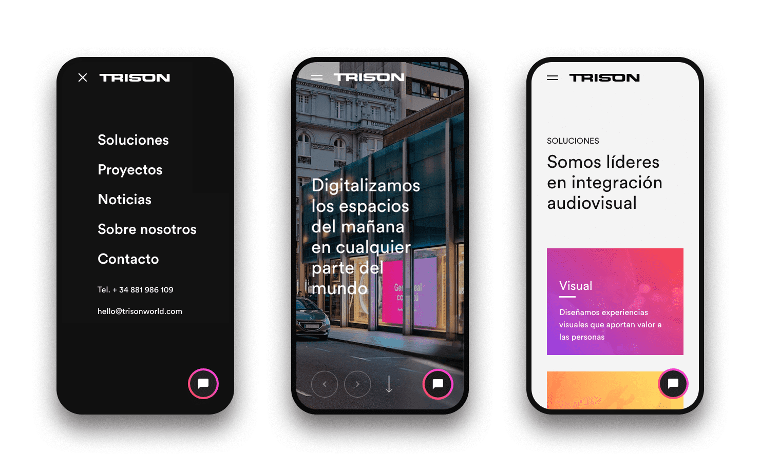 Digital branding and UX/UI for TRISON