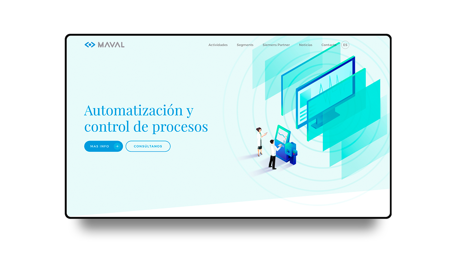 Industrial automation and control, new website for Maval
