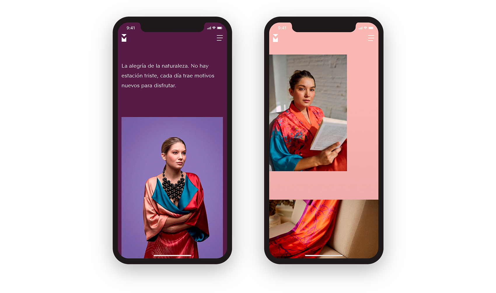 Strategy, web and ecommerce design for the textile fashion firm Vida y Milagros