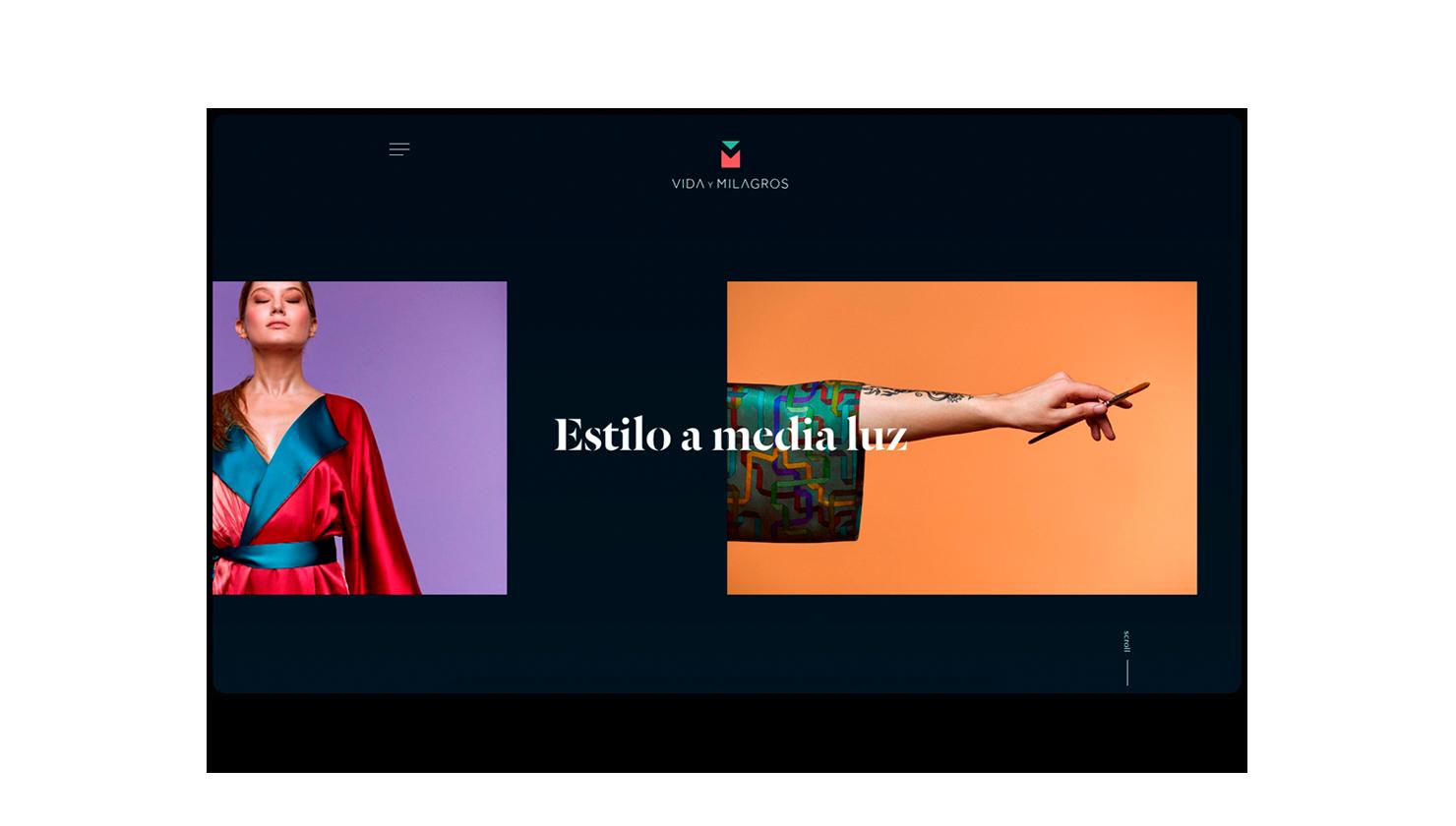 Estrategia, web y e-commerce para la firma de moda textil Vida y Milagros
