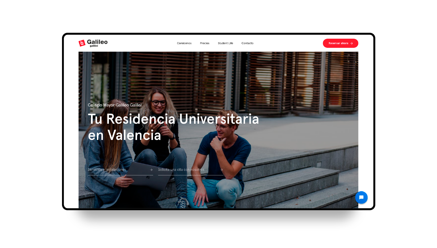 Galileo Galilei Residence Hall in Valencia, new website