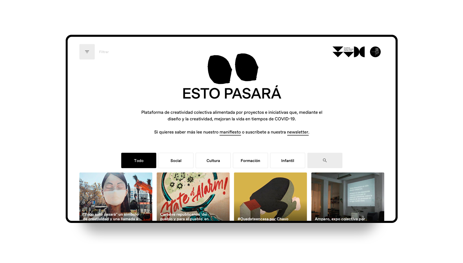 Esto pasará, a collective platform for design and creativity to combat Covid19