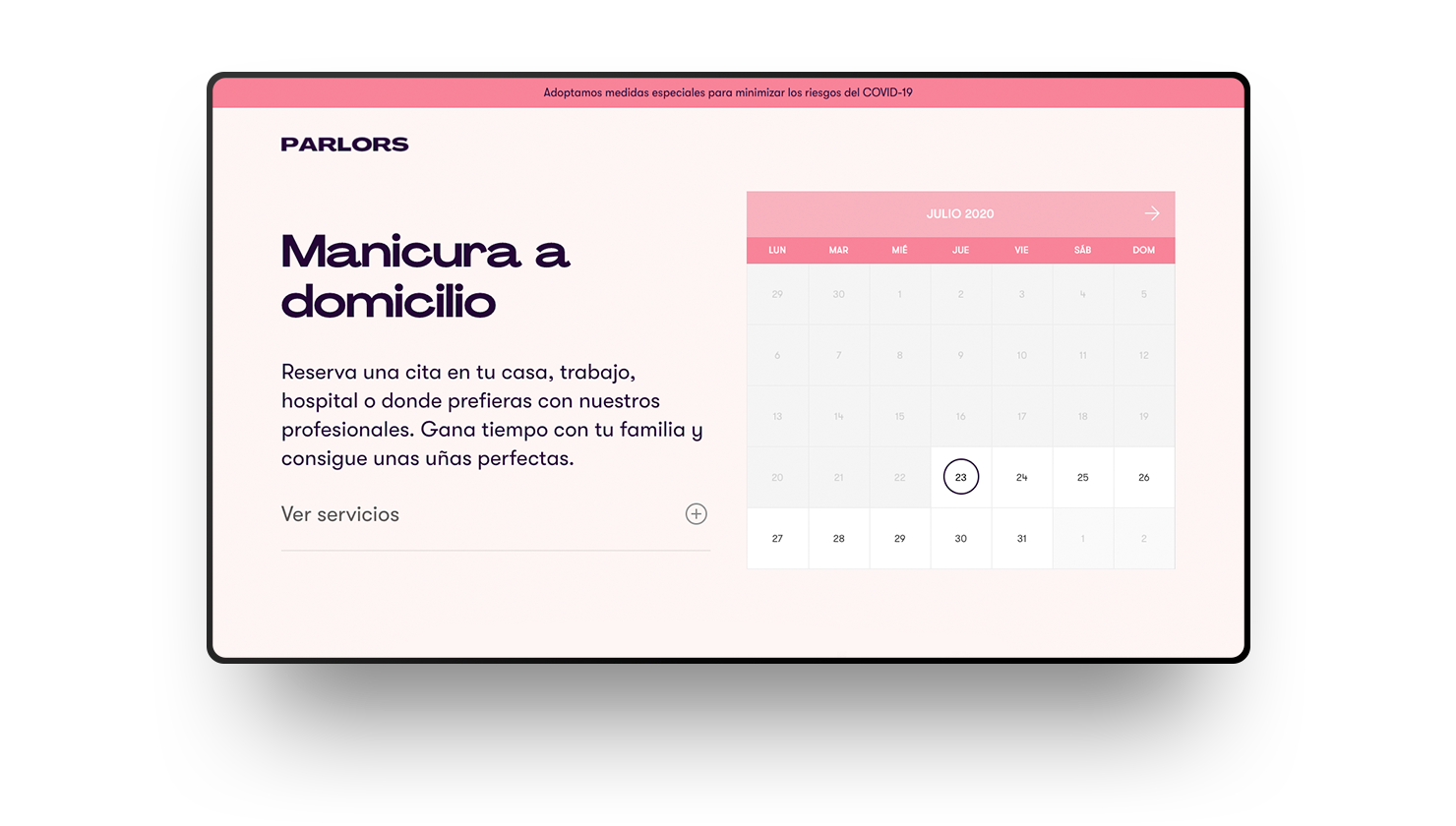 Manicure at home with Parlors, our new startup